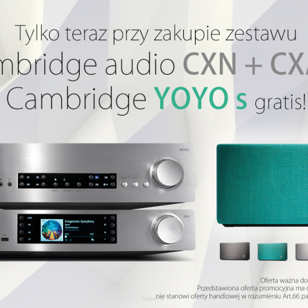 Cambridge Audio CXA-80 + CXN v.2 - głośnik Yoyo S gratis !!!